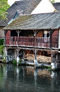 Eure Prints - Eure river and old fulling mills in Chartres Print by RicardMN Photography