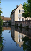 Mills Framed Prints - Eure river in Chartres Framed Print by RicardMN Photography
