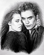 Twilight Drawings Prints - Everlasting Print by Andrew Read