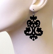 Perspex Jewelry Jewelry - Exclusive Victorian Lace Earrings by Rony Bank