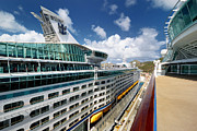 Explorer Of The Seas Seen From Adventure Of The Seas Print by Amy Cicconi