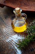 Healthy Herbs Posters - Extra virgin Olive oil  Poster by Mythja  Photography