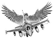 Peregrine Falcon Prints - F-16 Fighting Falcon Print by Dale Jackson