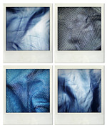 Blue Color Framed Prints - Fabrics Framed Print by Les Cunliffe