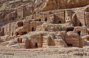 Architektur Photo Originals - facade street in Nabataean ancient town Petra by Juergen Ritterbach