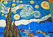 Featured Tapestries - Textiles Originals - facsimile of van Goghs Starry Night by Victor Claude Pirtle