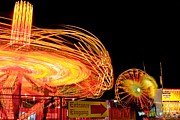 Exposure Pastels Prints - Fair rides Print by Bryan Hildebrandt