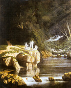 Francis Digital Art Posters - Fairies by a Rocky Stream Poster by Francis Danby