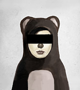 Boy Digital Art Prints - Fake Bear Print by Balazs Solti