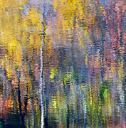 Abstract Water Fall Posters - Fall Impression Poster by KM Corcoran