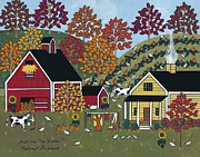 Halloween Paintings - Fall On The Farm by Medana Gabbard