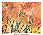 Cezanne Drawings Prints - Fall Time Colors Print by Eric  Schiabor