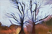 Judy Minderman Metal Prints - Fall Trees Metal Print by Judy Minderman