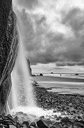Black And White Prints Prints - Falling into the Sea Print by Jon Glaser
