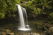 Park Scene Photo Prints - Falling Water Print by Andrew Soundarajan
