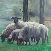 John  Reynolds - Family of Sheep