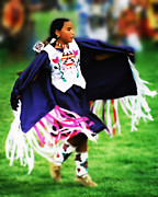 Powwow Posters - Fancy Shawl Dancer 2 Poster by Terril Heilman