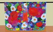 Garden Tapestries - Textiles Originals - Fantastic Garden by Robin Becker