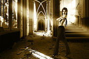 Fashion Model In Abandoned House Print by Stock Fine Art