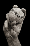 Hand Photo Posters - Fastball Poster by Diane Diederich