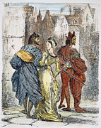 Delacroix Photo Prints - Faust: Mephistopheles, 1828 Print by Granger