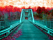 Amy Sorrell Art - Fayette Station Bridge by Amy Sorrell