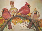 Cheryl Borchert Posters - Feathered Friends Poster by Cheryl Borchert