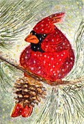 Pine Cones Paintings - Feeling Cheeky by Angela Davies