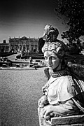 Neptune Photo Prints - Female Sphinx statue in the Queluz Palace Print by Lusoimages