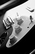 Stratocaster Art - Fender Stratocaster Electric Guitar Black and White by Jani Bryson