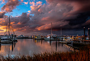 Fernandina Beach Framed Prints - Fernandina Beach Marina Framed Print by Scott Moore