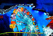Staley Art Photo Prints - Ferris Wheel Print by Chuck Staley