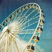 Ferris Wheel Retro Print by Jane Rix