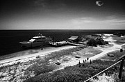 Dry Tortugas Prints - Ferry And Dock At Fort Jefferson Dry Tortugas National Park Florida Keys Usa Print by Joe Fox