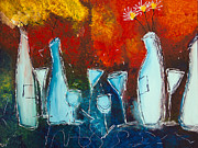 Wine Glasses Paintings - Fiesta by Lisa Adame