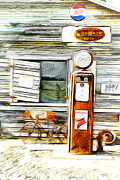 Model A Sedan Prints - Fill Er Up Print by Steve McKinzie