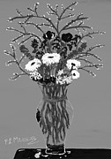 Vase Of Flowers Prints - Fiori Print by Loredana Messina