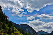 A Summer Evening Landscape Posters - Fire in the Sky Ouray Colorado Poster by Janice Rae Pariza