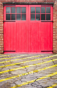 Double Yellow Lines Framed Prints - Fire station Framed Print by Tom Gowanlock