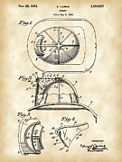 Serve Digital Art Prints - Firefighters Helmet Patent Print by Stephen Younts