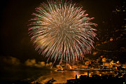 Pyrotechnics Prints - Fireworks HDR Print by Antonio Scarpi