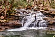Fishing Mill Creek Falls In West Virginia Print by Dan Friend
