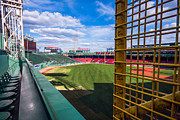 Boston Red Sox Metal Prints - Fisks Pole and the Green Monster Metal Print by Tom Gort
