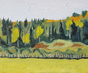 Impressionism Originals - Five Yellow Trees  by Francois Fournier