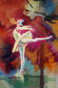 Ballet Dancers Painting Framed Prints - Flamenco Dancer Framed Print by Catf