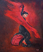 Margaret Merry Framed Prints - Flamenco  Framed Print by Margaret Merry