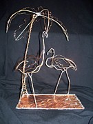 Featured Sculptures - Flamingos by Cathy McGregor