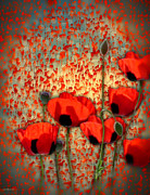 Valerie Anne Kelly Art Framed Prints - Flanders fields Framed Print by Valerie Anne Kelly
