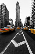 Taxi Posters - Flatiron Building NYC Poster by John Farnan