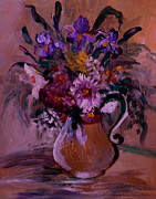 Most Popular Paintings - Floral In A Vase by Anna Sandhu Ray